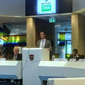 Harmen van der Steenhoven tijdens de Perspectiefnota Raadsvergadering